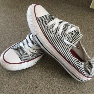 EUC Women's Converse Sneakers Black & White - Sz 6